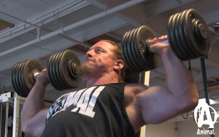 Kurzhantel Nackendrücken - Schultertraining Powerlifting