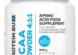 ProteinBuzz BCAA Pulver für Muskelaufbau und antikatabole Wirkung