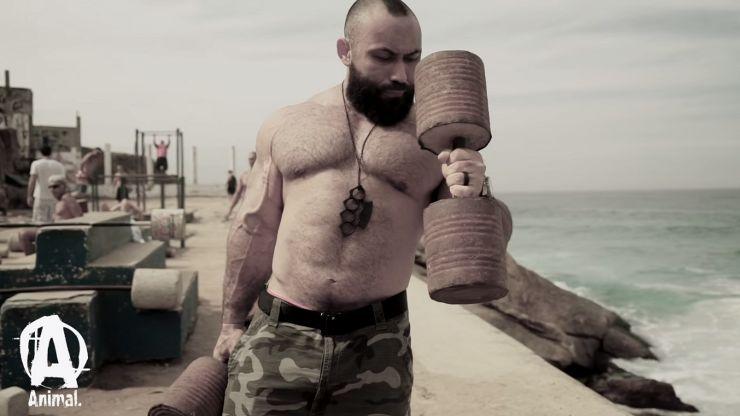 Outdoor Bodybuilding Training