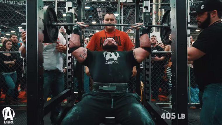 Kraftsport Event - Nackendrücken Rekordversuch