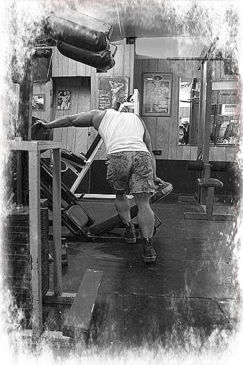 Muskelaufbau durch hartes Training